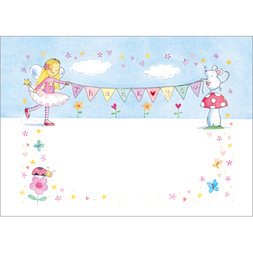 Fairy Party Invitation Fairies Thank You postcards
