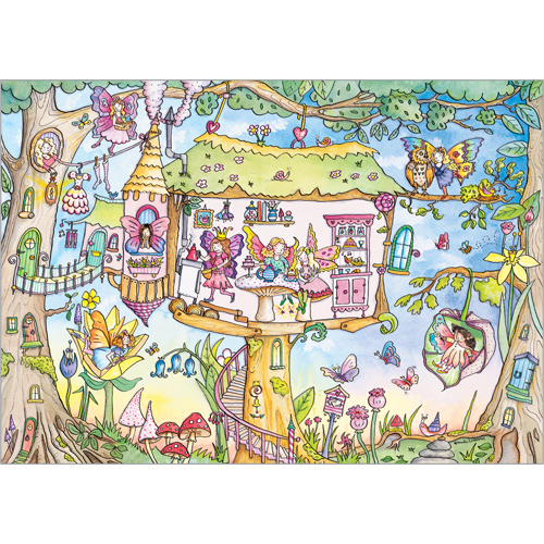 Fairy Tree House Greeting Card A212