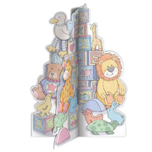 3D baby greeting card building blocks