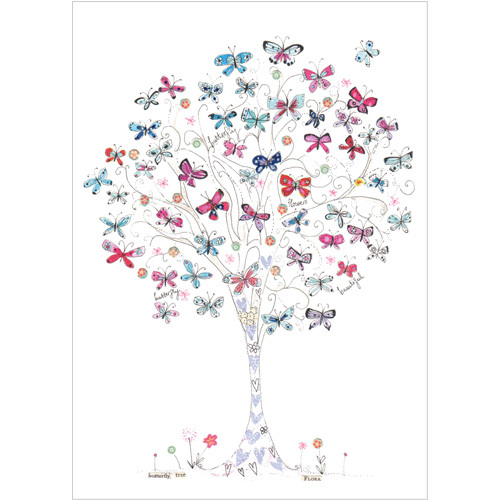 A208 thinking of you butterfly tree card