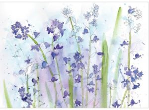 bluebells thinking of you greeting cards