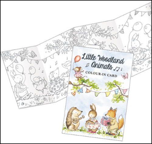 CP014 Little Woodland Animals Frieze Colour-in £3.00