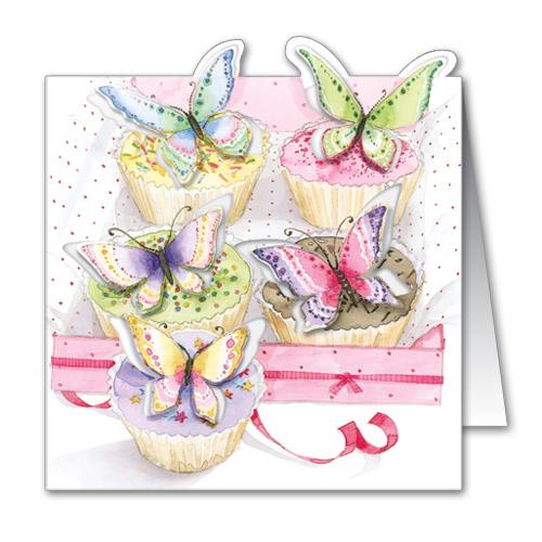 butterfly cupcakes pop up greeting card