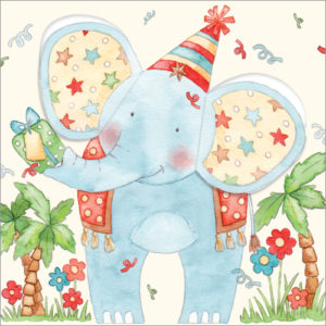 S212 party elephant pop-out ears card