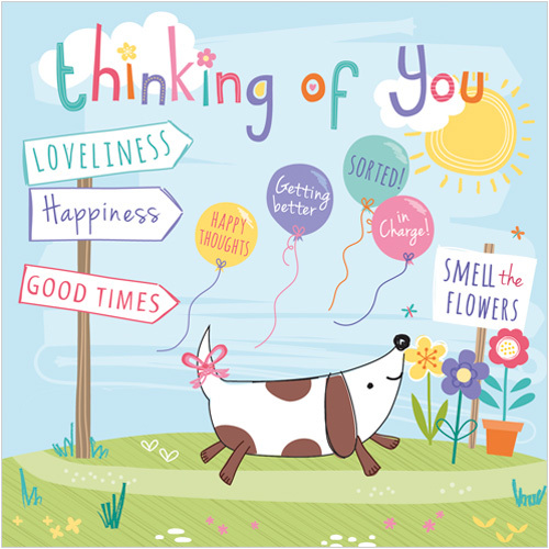 S227 Path to Happiness Thinking of you greetings cards