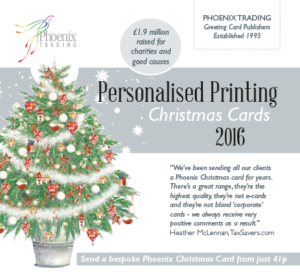 phoenix trading personalised corporate christmas cards brochure link