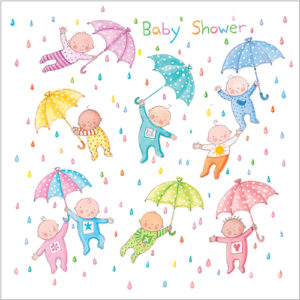 WS302 baby shower greeting card