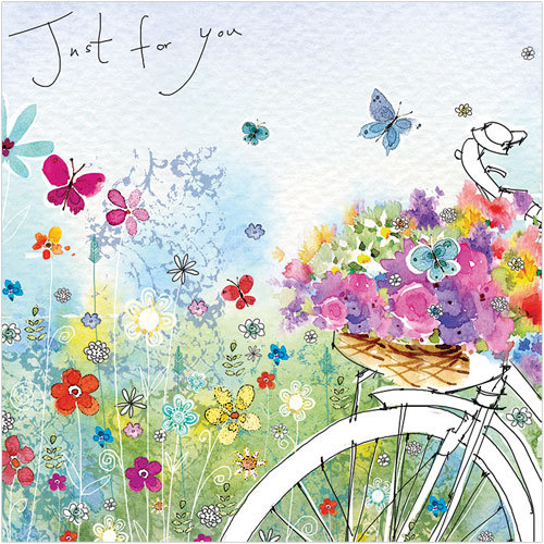 WS408 Bicycle in the Meadow greeting card