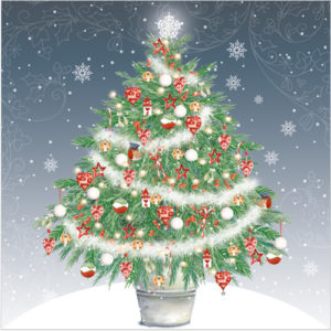 christmas tree christmas card XR01