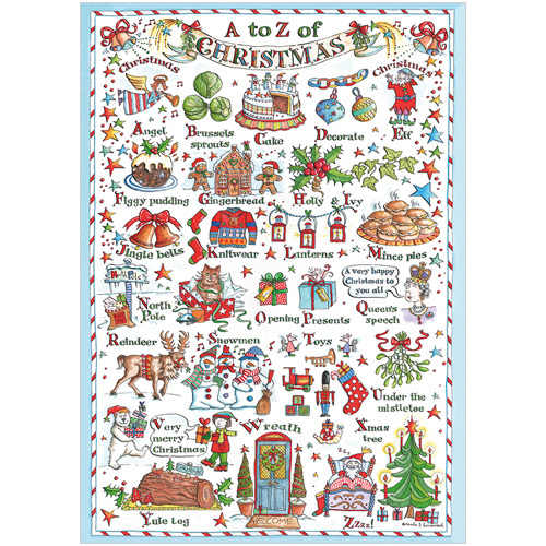 A to Z Funny Christmas Card XS03
