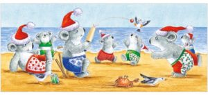 XS37 Christmas Cricket Koala card