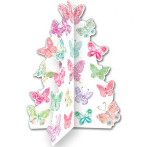 A099 butterfly cloud greeting card 3D