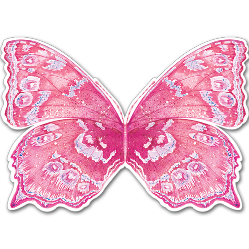 A129 pink butterfly card