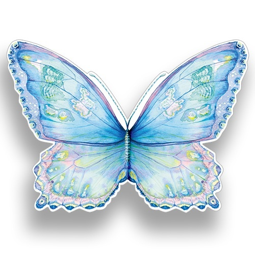 AL69 Blue Butterfly greeting card artists Amanda Loverseed