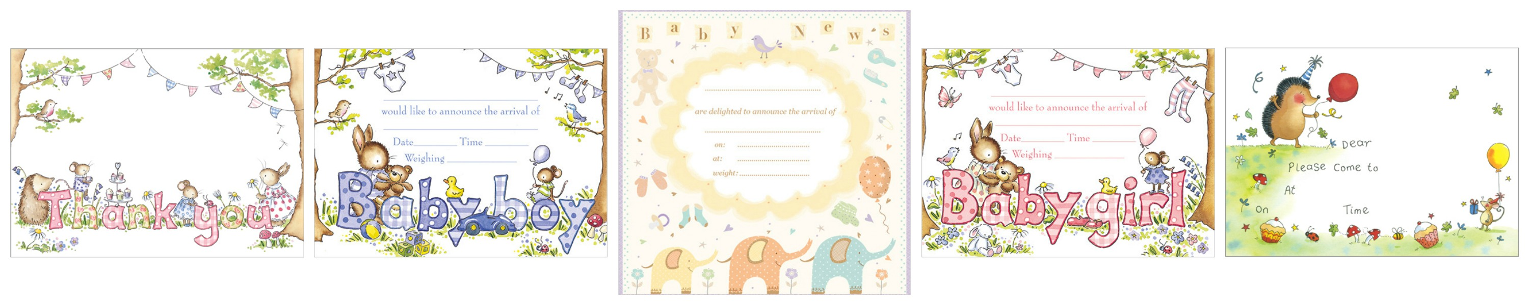 New Baby Announcement Notecards