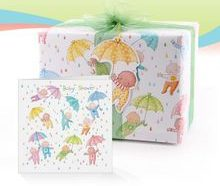 baby shower greeting card gift wrap tag