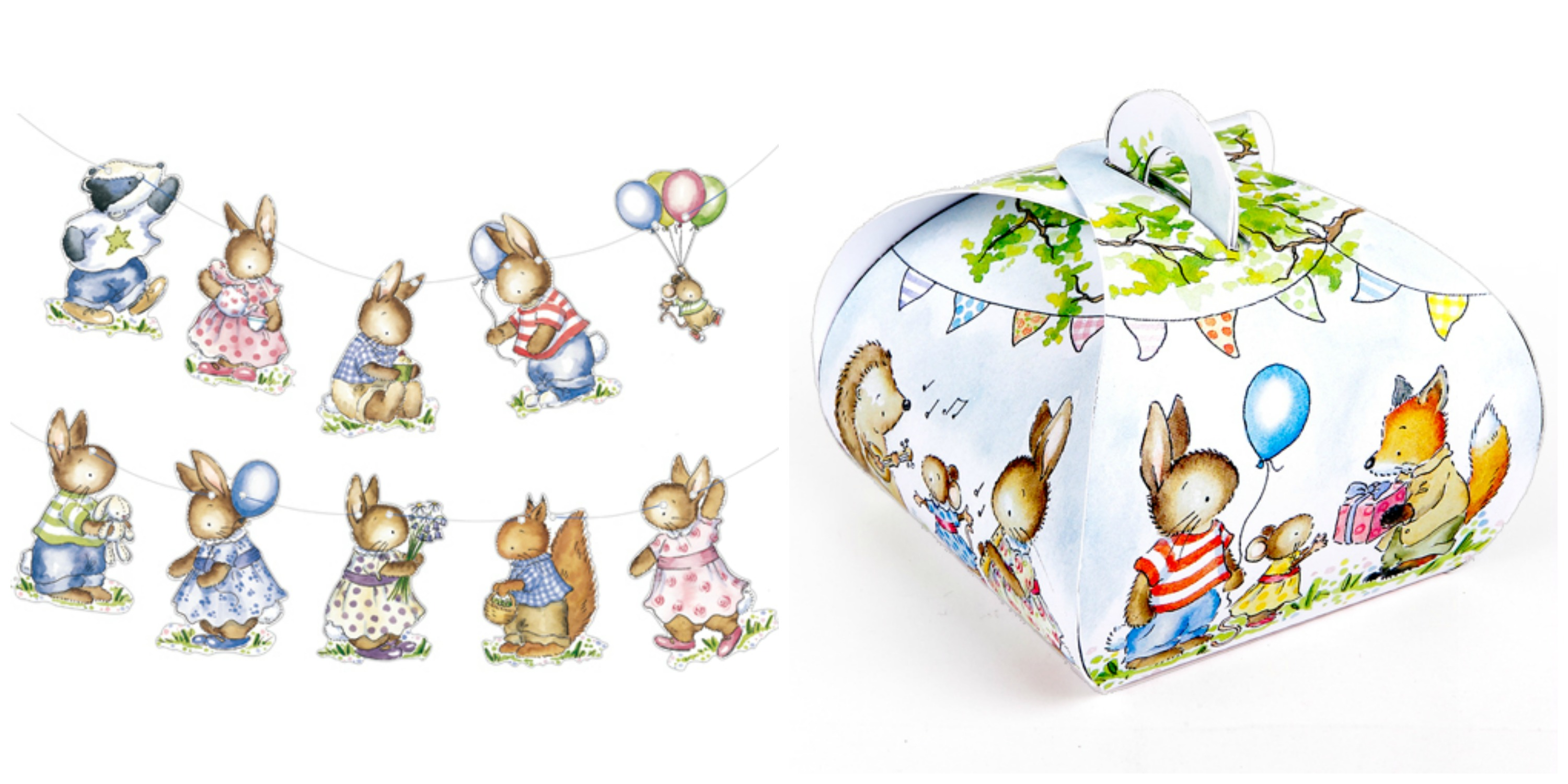 Little Woodland Animals Bunting & Giftbox