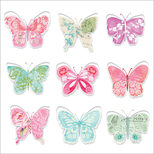 Painted Butterflies 3D Pop Up cards UK