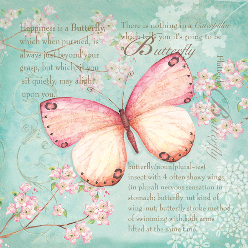 WS361 thinking of you butterfly sympathy card for loss of mother