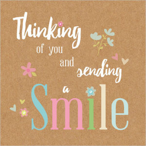 thinking of you and sending a smile greeting card