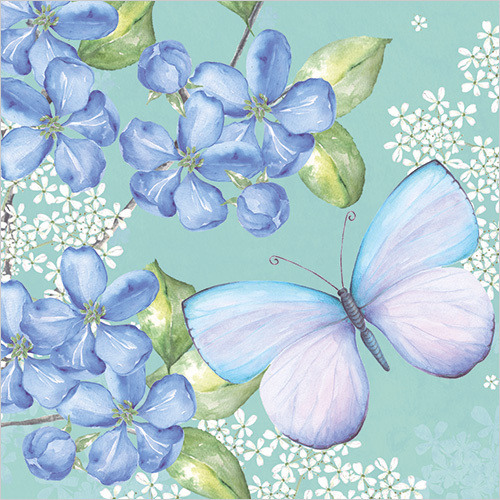 WS454 thinking of you butterfly sympathy card for loss of mother
