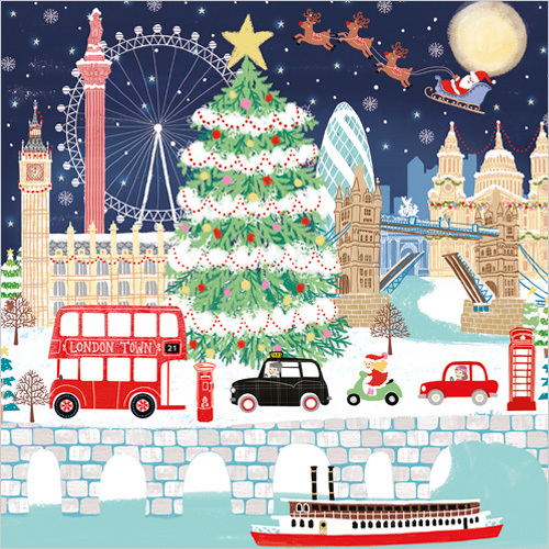 London Christmas Card XR18