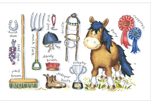 A814 Pony Stuff Greeting Card