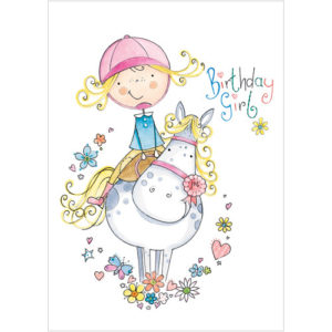 a213 girl pony birthday card