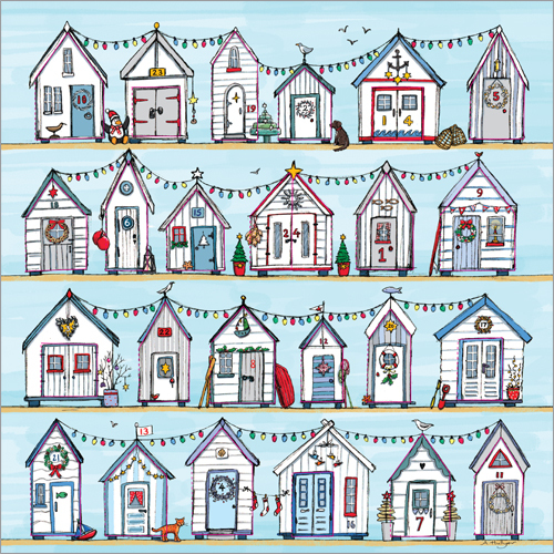 ADV28 Christmas Beach Huts Advent Calendar