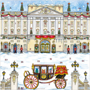 xm129 buckingham palace advent calendar card