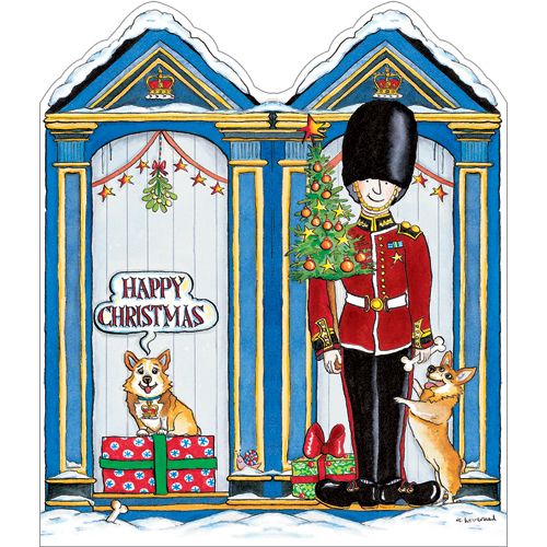 Patriotic Christmas Card Royal Palace Guard XP18