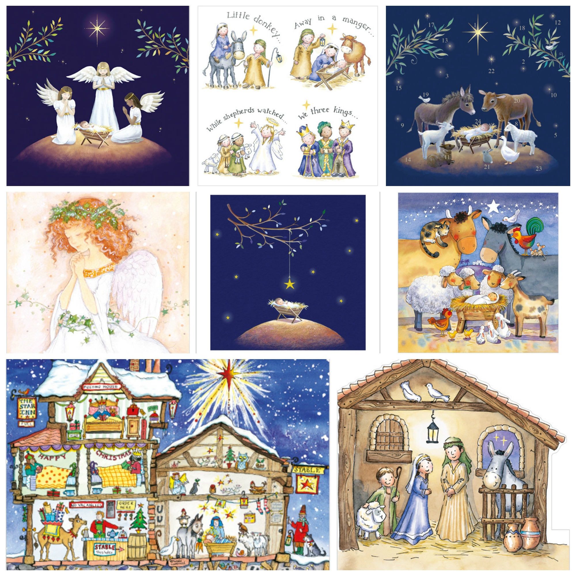 Cute Nativity Christmas Cards Religious Xmas