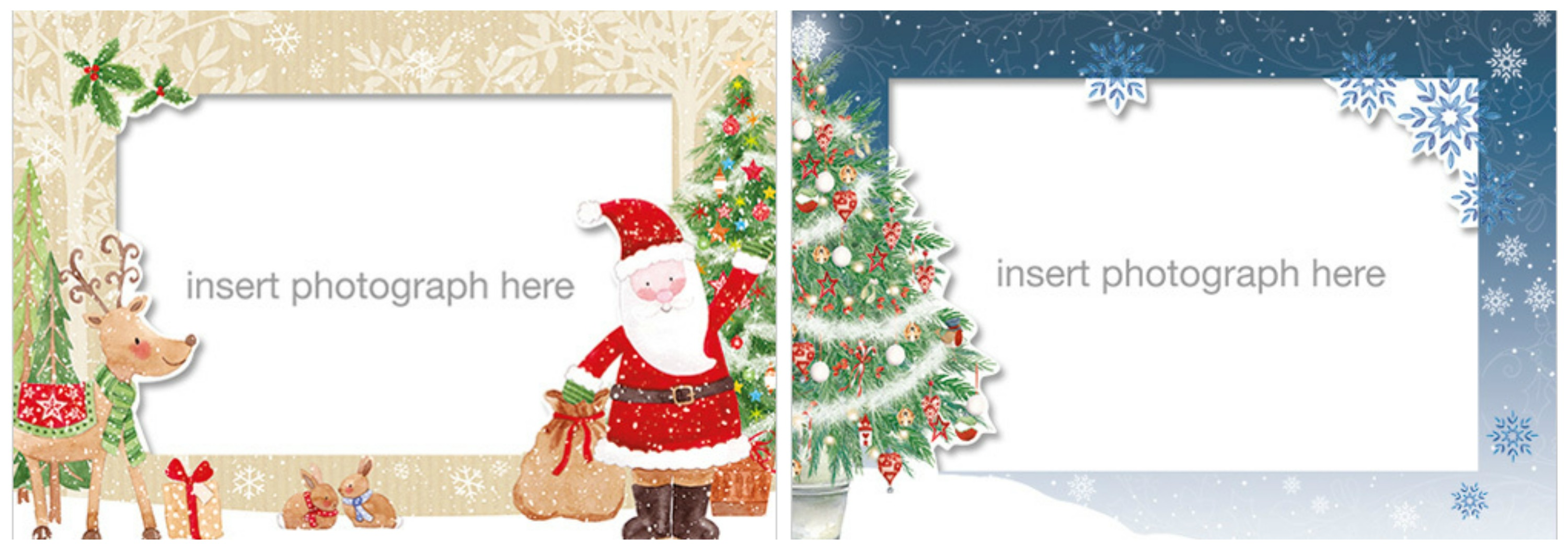 Photo Christmas Cards XM126 Trees XM128 Santa