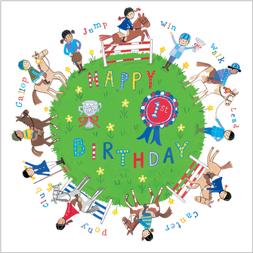 S239 Pony Club birthday greeting card