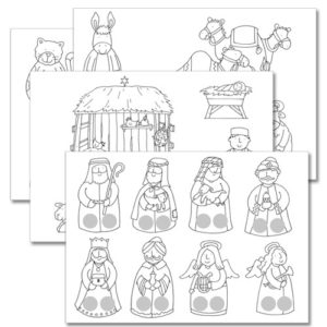 nativity colour in finger puppets xcp012