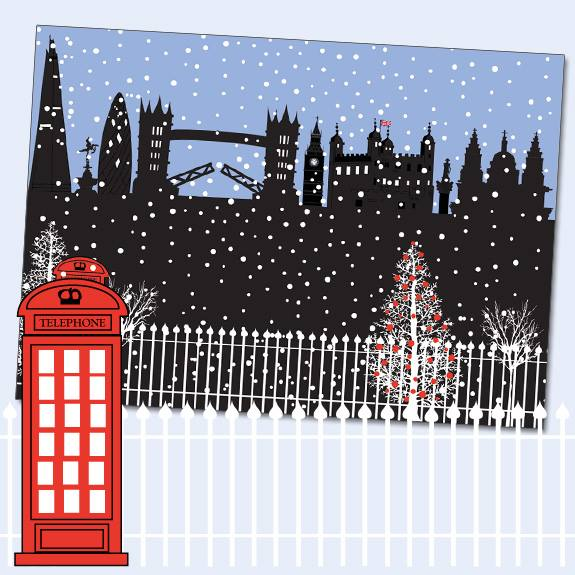 Silhouette London Christmas Card XS27