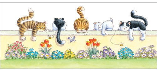 L275 Lazy Cat Days greeting card