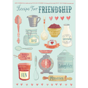 a258 recipe for friendship greeting card