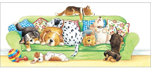 l274-lazy-dog-days greeting card