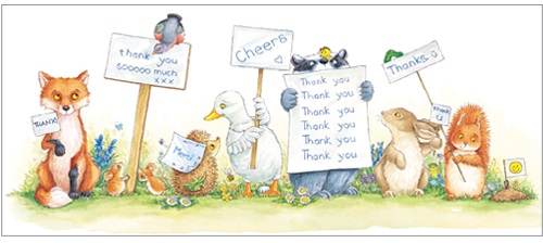 L288 Thank you greeting card