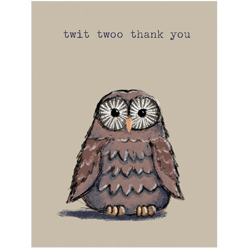 B036 Twit twoo thank you owl gift card