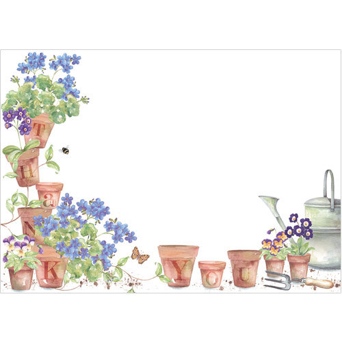 TY110 Flower Pots Thank You Cards