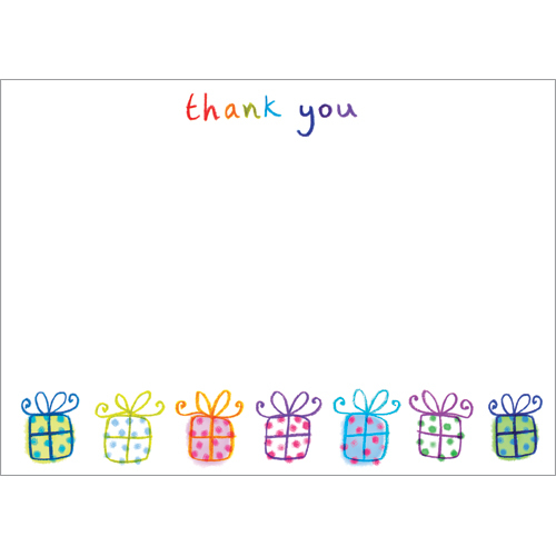 ty91 packs of thank you cards uk presents notecards