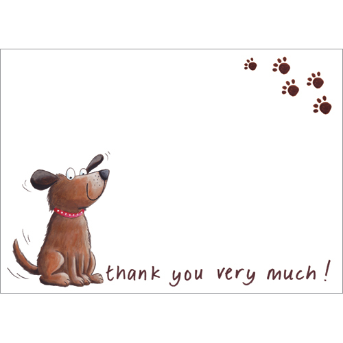 ty94-thank-you-dog-postcard-notecard sympathy acknowledgement
