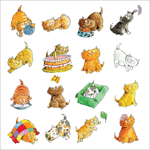 ws241 cats greeting card phoenix trading