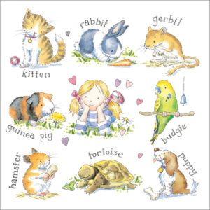 WS310 Pets Greeting card pet sympathy card