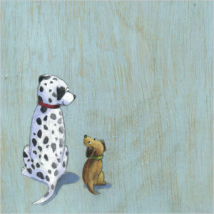 WS388 Rolo and midge dog sympathy card