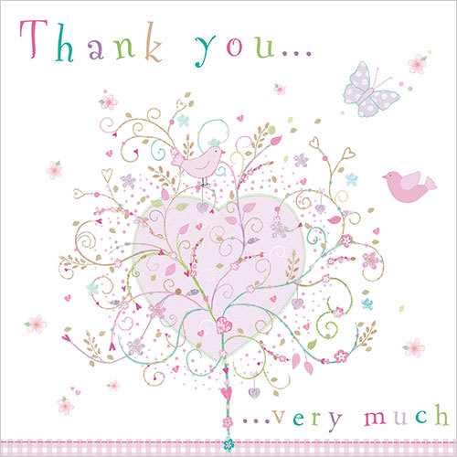 WS435 Thank You Very Much Greeting Card