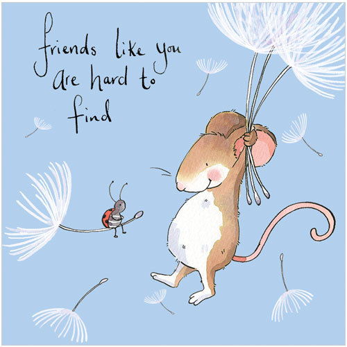 Thinking of You message greeting card friends like you are hard to find