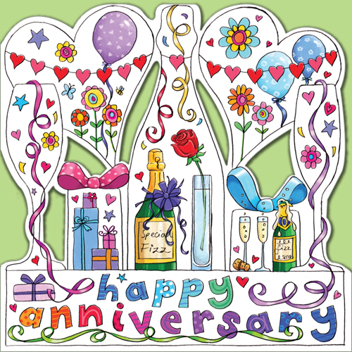 c012 happy anniversary greeting card